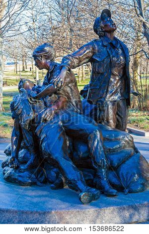 Washington Dc, Usa - January 27, 2006: The Vietnam Women's Memorial By Glenna Goodacre