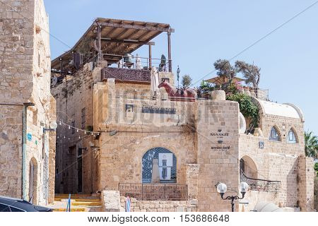 Yafo Israel October 15 2016: Quiet street in old city Yafo Israel