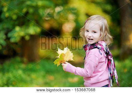 Little Girl At Autumn Park