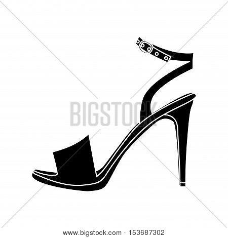 sandal high heel shoe icon image vector illustration design