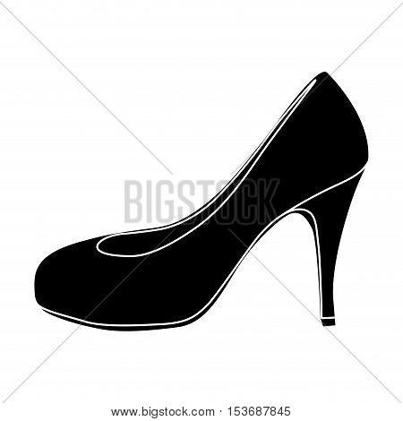 pump high heel shoe icon image vector illustration design