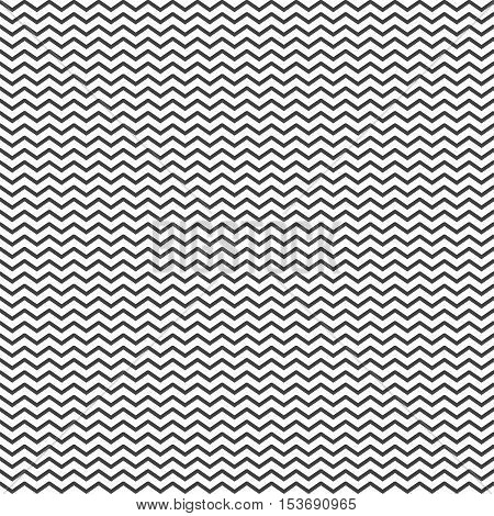 Zigzag seamless pattern background in black on a white background