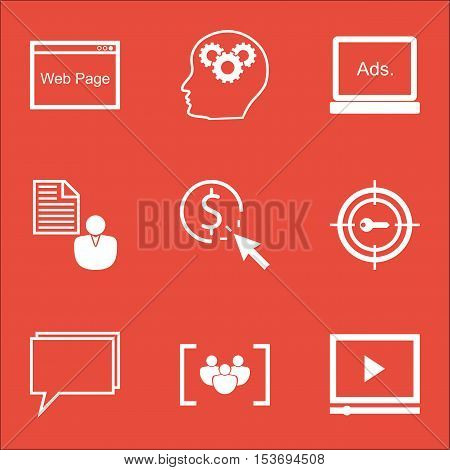 Set Of Marketing Icons On Conference, Video Player And Digital Media Topics. Editable Vector Illustr