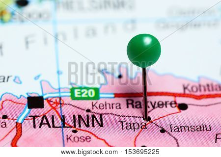 Tapa pinned on a map of Estonia