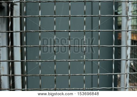 Steel mesh squares for background industrial industry