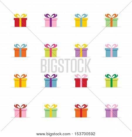 colorful presents or gift boxes vector illustration