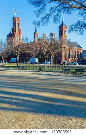 Washington Dc, Usa - January 27, 2006: The Castle, First Smithsonian Institution Building