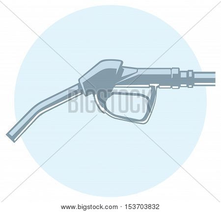 monochromatic icon of a filling gun. nozzle