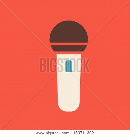 Microphone icon vector illustration. Musical sign eps 10