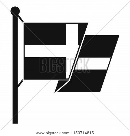 Flag of Sweden icon. Simple illustration of flag of Sweden vector icon for web