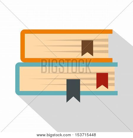 Two books icon. Flat illustration of two books vector icon for web