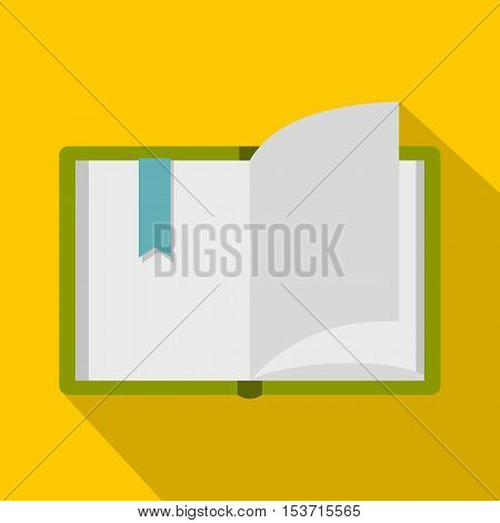 Open book icon. Flat illustration of open book vector icon for web