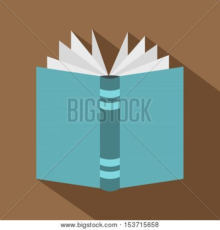 Open thick book icon. Flat illustration of open thick book vector icon for web