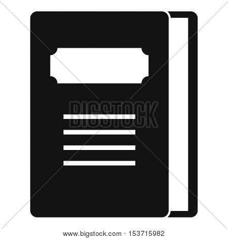 Tutorial icon. Simple illustration of tutorial vector icon for web
