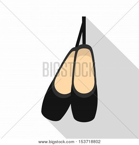 Pointe shoes icon. Flat illustration of pointe shoes vector icon for web