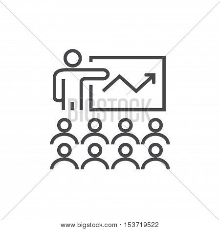 Vector modern thin line icon on white background