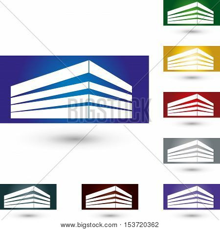 House colored, real estate and real estate agent logo