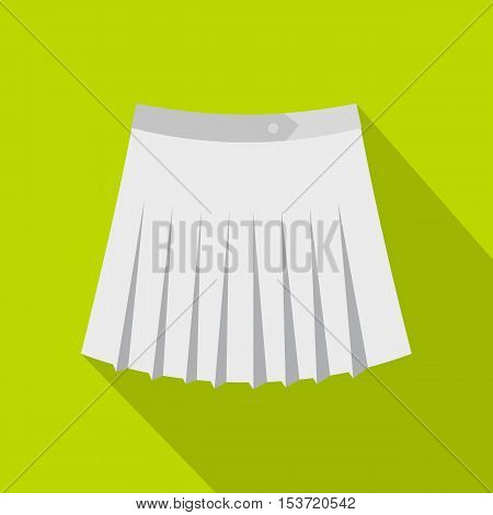 Tennis female skirt icon. Flat illustration of tennis female skirt vector icon for web