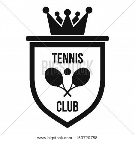 Coat of arms of tennis club icon. Simple illustration of coat of arms of tennis club vector icon for web