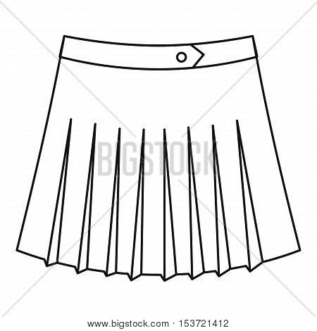 Tennis female skirt icon. Outline illustration of tennis female skirt vector icon for web