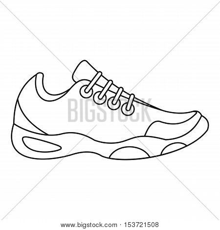 Sneakers for tennis icon. Outline illustration of sneakers for tennis vector icon for web