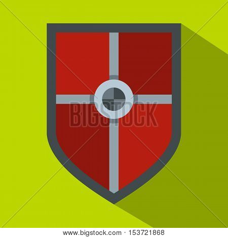 Shield for fight icon. Flat illustration of shield for fight vector icon for web