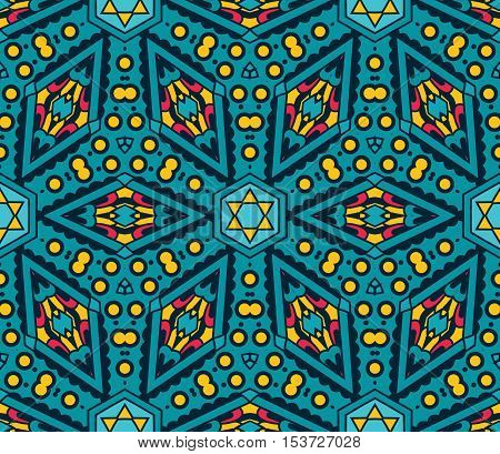 Vector abstract geometric seamless pattern ornamental background