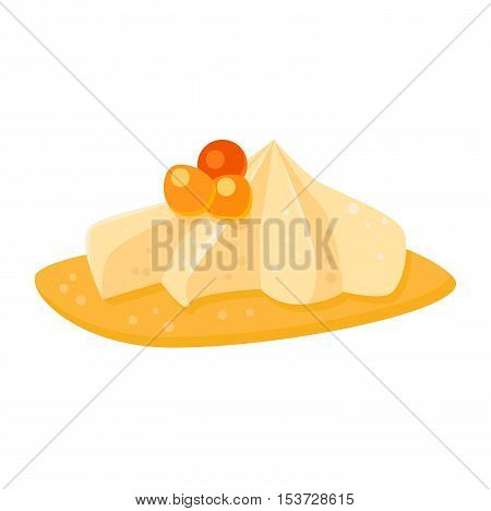 Sweet cake isolated on white.  Food fresh cake