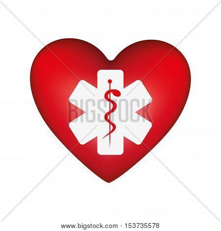 heart shape health care emblem icon image vector illustration design