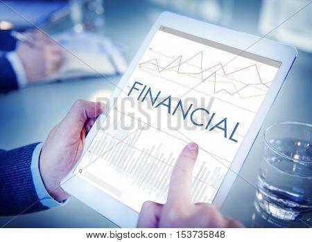Financial Statistics Analytics Business Process Concept