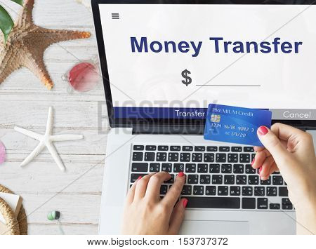 Online Money Transfer Interface Concept