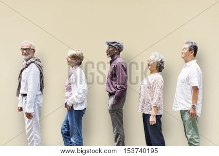 Diversity Senior People Friends Lifestyle Concept
