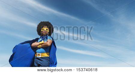 Little Boy Super Hero Concept