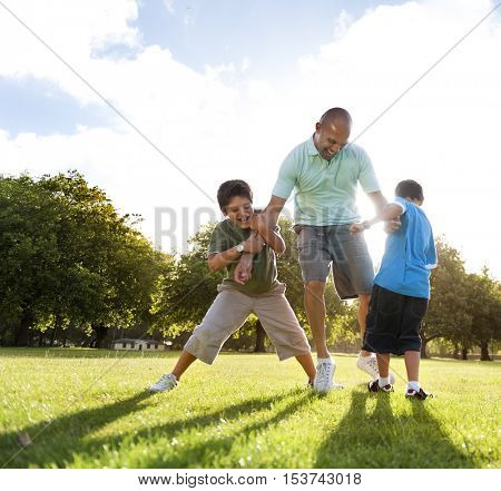 Family Father Little Boy Lifestyle Activity Concept