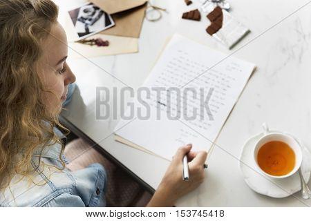 Written Women Female Girl Message Statement Concept