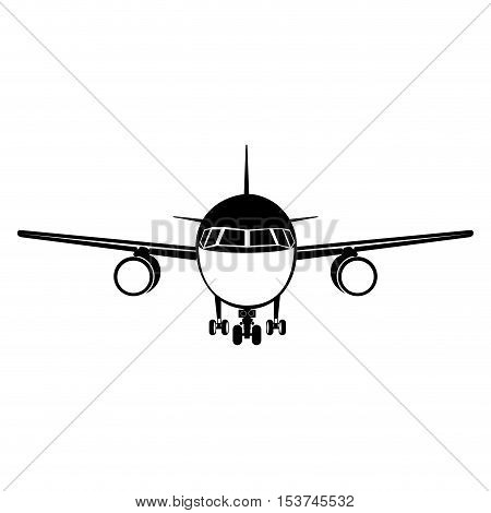airplane frontview icon image vector illustration  design