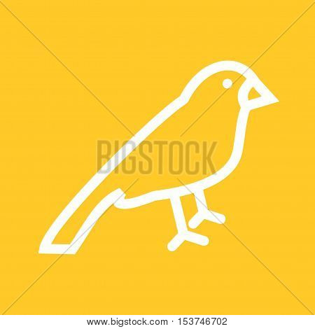 Sparrow, bird, animal icon vector image. Can also be used for spring. Suitable for web apps, mobile apps and print media.