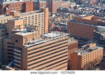 Tall Brick Buildings Helipad Philadelphia