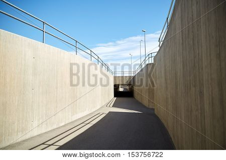 modern architecture concept - urban city tunnel construction