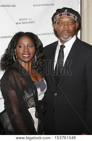 LaTanya Richardson and Samuel L. Jackson at the Archbishop Desmond Tutu's 75th Birthday Party held at the Regent Beverly Wilshire Hotel in Beverly Hills, USA on September 18, 2006.