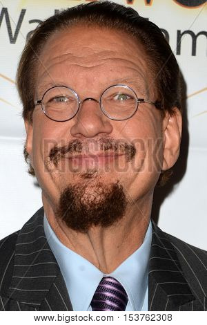 LOS ANGELES - OCT 25:  Penn Jillette at the Hollywood Walk of Fame Honors at Taglyan Complex on October 25, 2016 in Los Angeles, CA