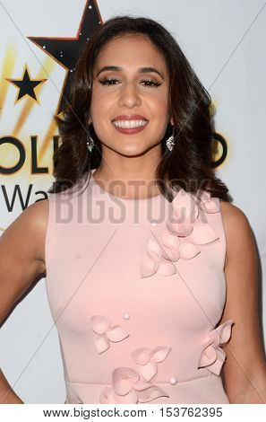 LOS ANGELES - OCT 25:  Gabrielle Ruiz at the Hollywood Walk of Fame Honors at Taglyan Complex on October 25, 2016 in Los Angeles, CA