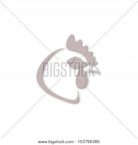 Vector Chicken head icon on white background