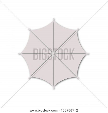 Simple vector Umbrella icon on white background