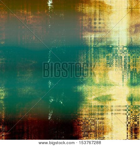 Scratched vintage texture, grunge style frame or background. With different color patterns: yellow (beige); brown; green; blue; red (orange)