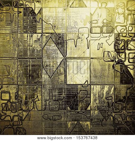 Geometric art grunge texture, vintage abstract background for creative design. With different color patterns: yellow (beige); brown; gray; white; black