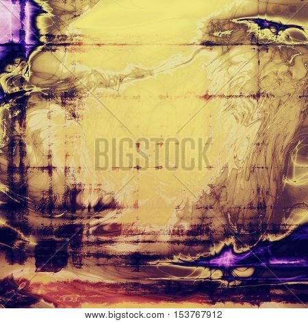 Grunge texture, scratched surface or vintage background. With different color patterns: yellow (beige); brown; blue; red (orange); purple (violet)