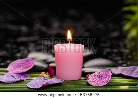 spa concept â??orchid and petals,candle