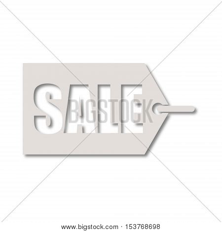 SImple Sale Tags icon on white background