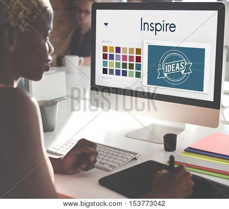 Inspire Be Creative Design Logo Concept
